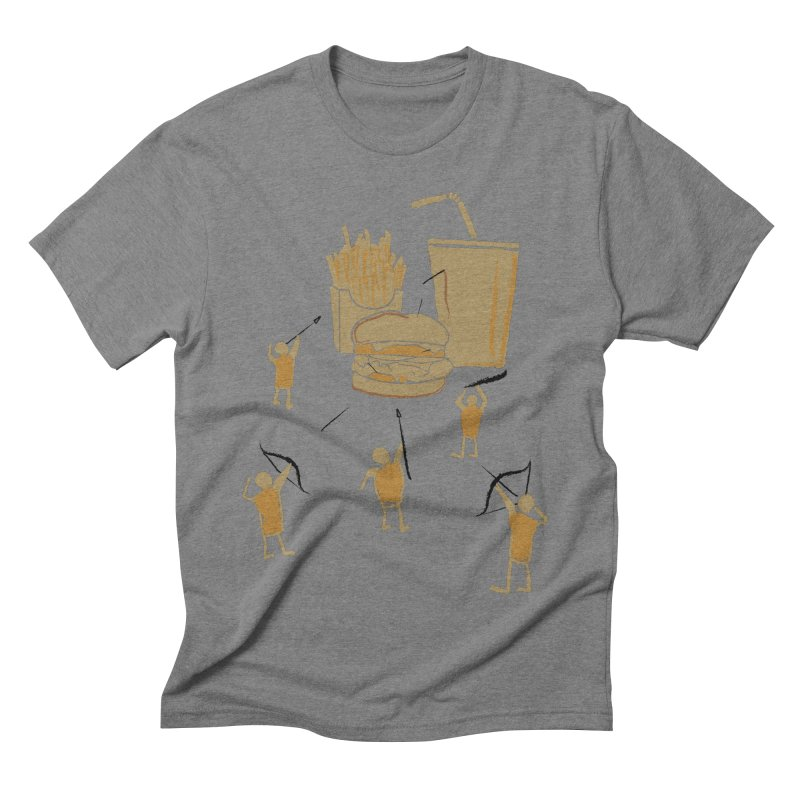 Hunting Party Finds Fast Food Men's Triblend T-shirt by brandonjw's Artist Shop