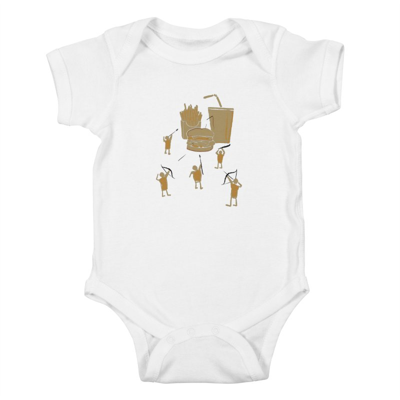 Hunting Party Finds Fast Food Kids Baby Bodysuit by brandonjw's Artist Shop