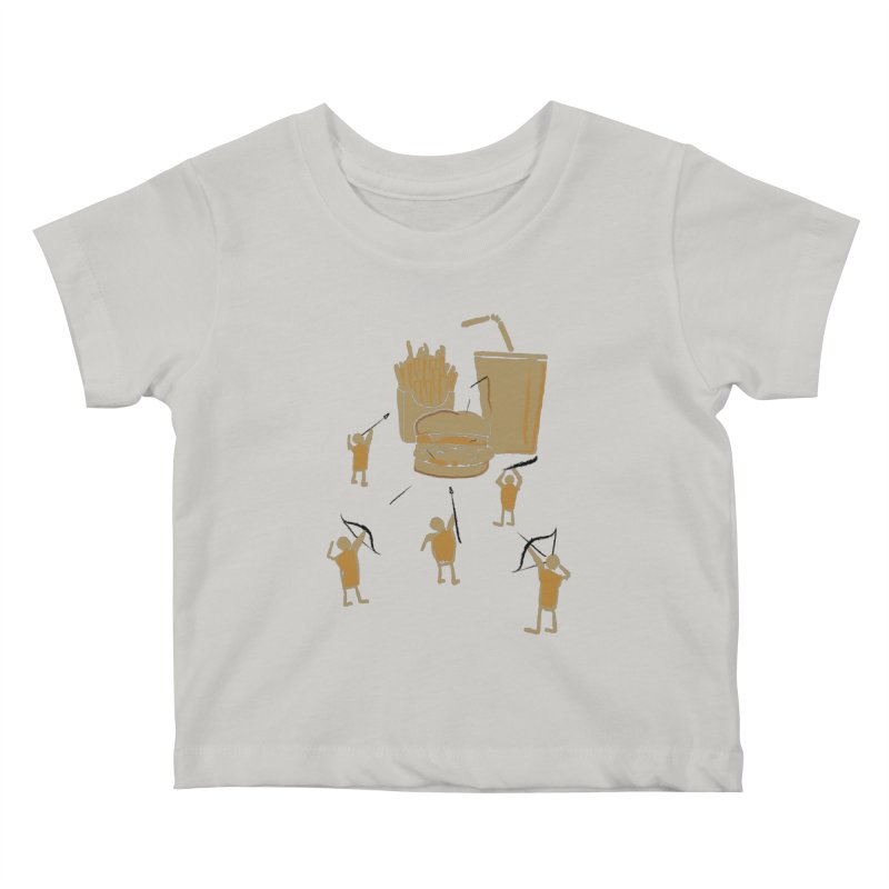 Hunting Party Finds Fast Food Kids Baby T-Shirt by brandonjw's Artist Shop