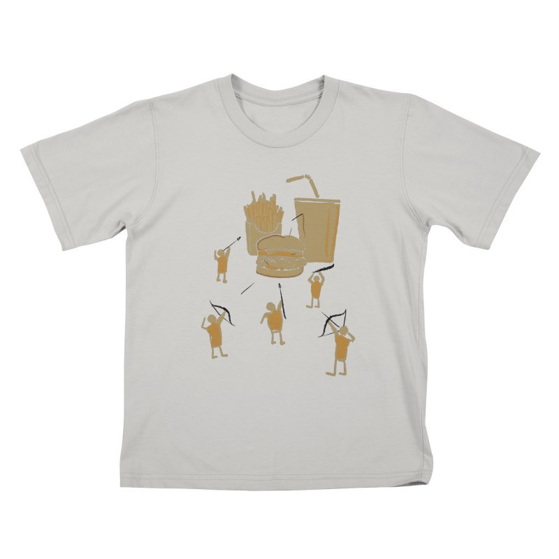 Hunting Party Finds Fast Food Kids T-shirt by brandonjw's Artist Shop