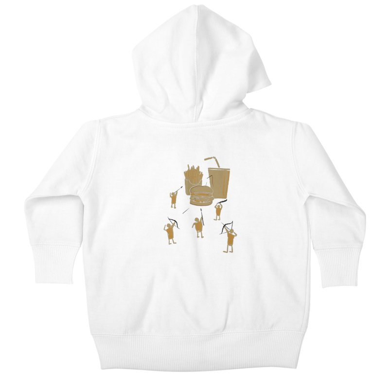 Hunting Party Finds Fast Food Kids Baby Zip-Up Hoody by brandonjw's Artist Shop