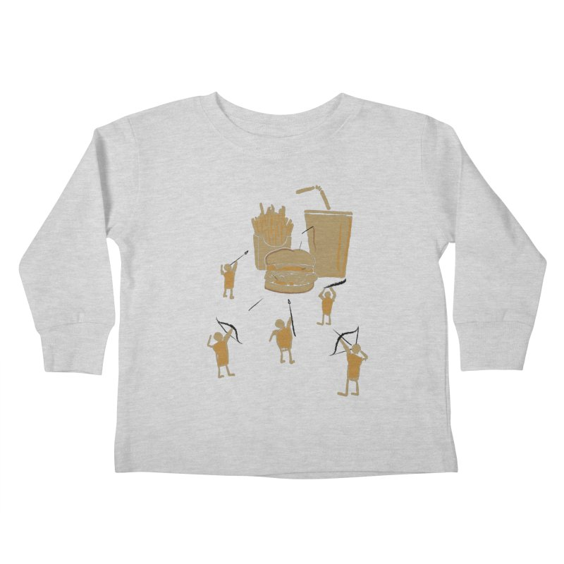 Hunting Party Finds Fast Food Kids Toddler Longsleeve T-Shirt by brandonjw's Artist Shop