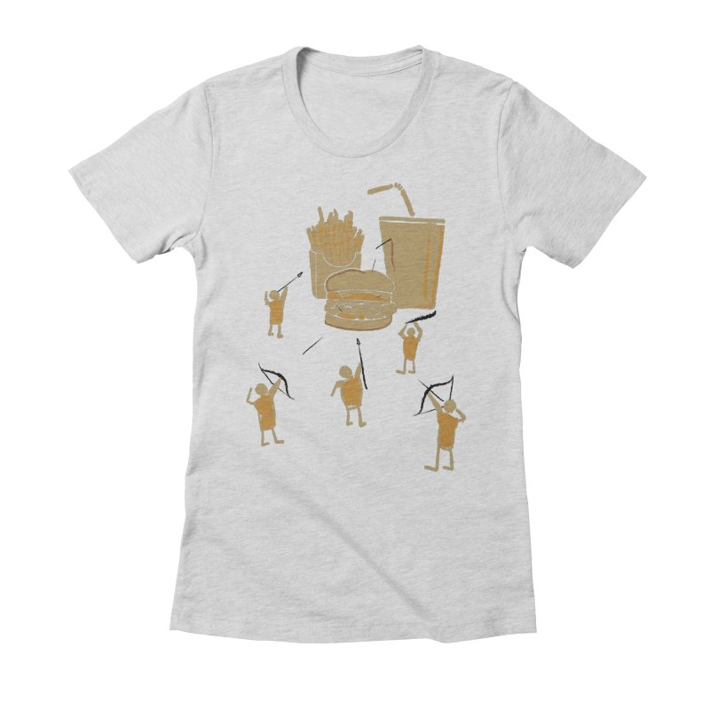 Hunting Party Finds Fast Food Women's Fitted T-Shirt by brandonjw's Artist Shop