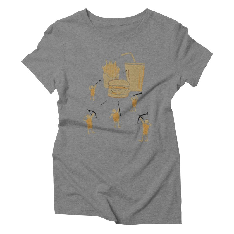 Hunting Party Finds Fast Food Women's Triblend T-Shirt by brandonjw's Artist Shop
