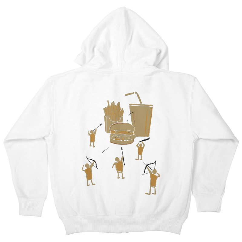 Hunting Party Finds Fast Food Kids Zip-Up Hoody by brandonjw's Artist Shop