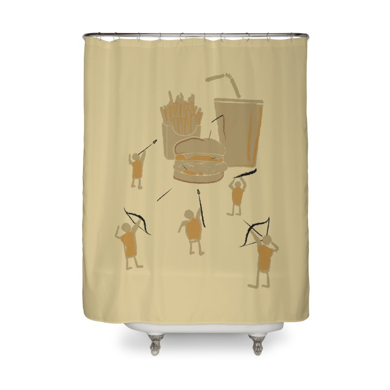 Hunting Party Finds Fast Food Home Shower Curtain by brandonjw's Artist Shop