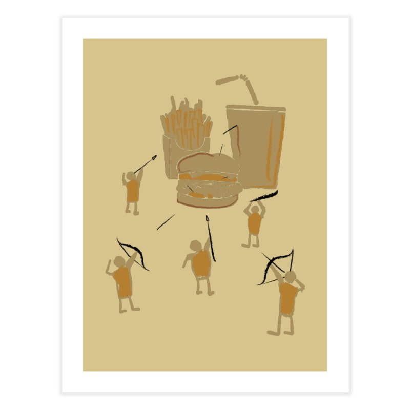 Hunting Party Finds Fast Food Home Fine Art Print by brandonjw's Artist Shop