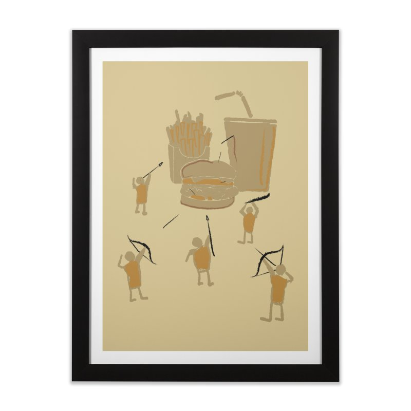 Hunting Party Finds Fast Food Home Framed Fine Art Print by brandonjw's Artist Shop