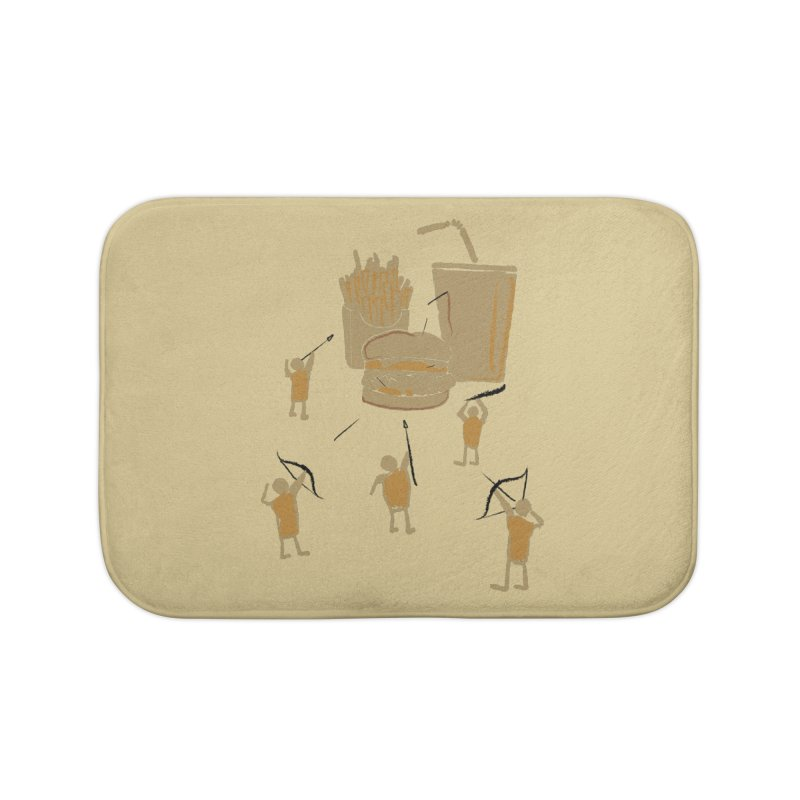 Hunting Party Finds Fast Food Home Bath Mat by brandonjw's Artist Shop