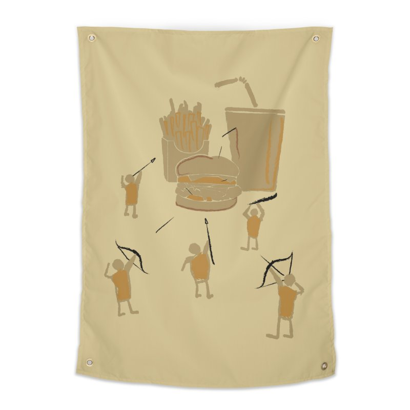 Hunting Party Finds Fast Food Home Tapestry by brandonjw's Artist Shop