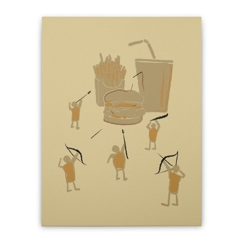 Hunting Party Finds Fast Food Home Stretched Canvas by brandonjw's Artist Shop