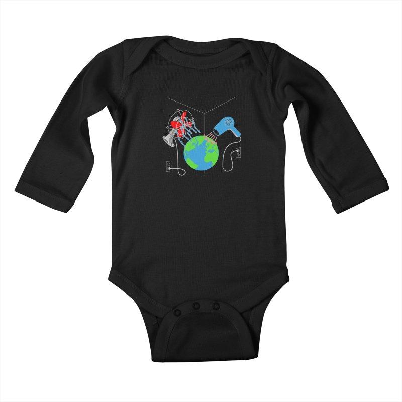 Cool It! Kids Baby Longsleeve Bodysuit by brandonjw's Artist Shop