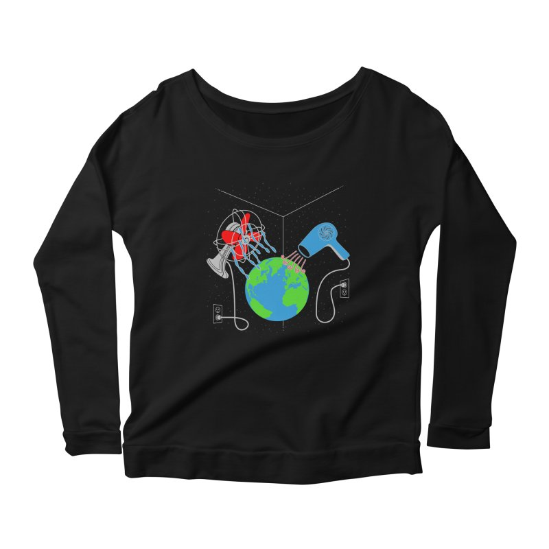 Cool It! Women's Longsleeve Scoopneck  by brandonjw's Artist Shop