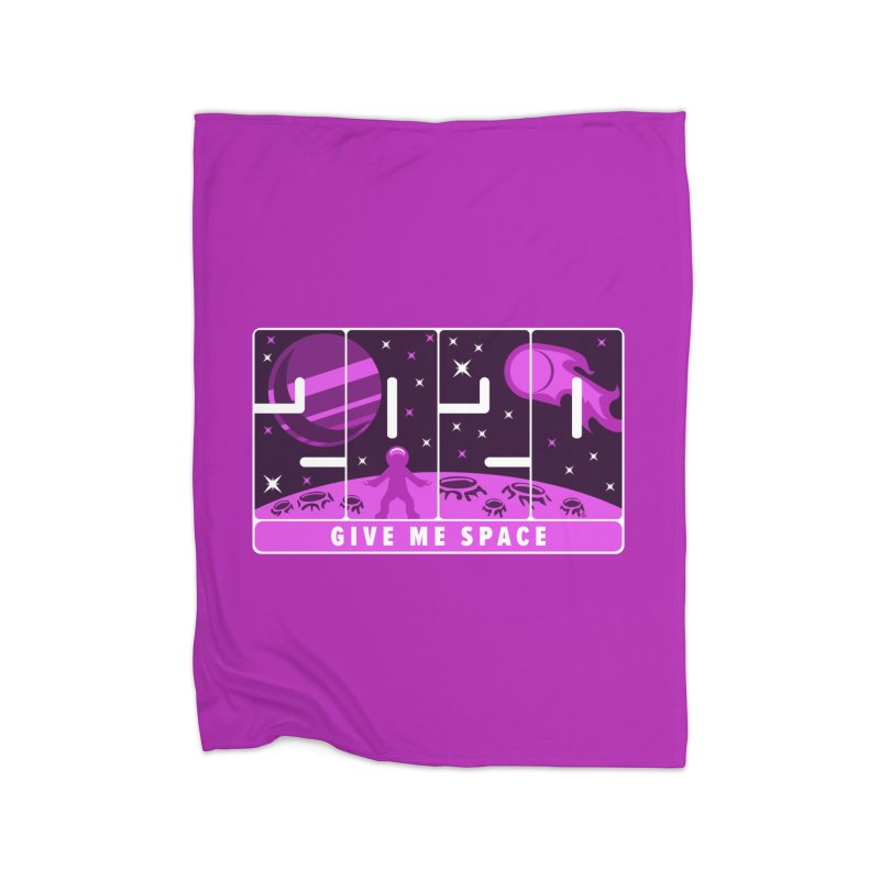 2020, Give Me Space Home Blanket by Wood-Man's Artist Shop