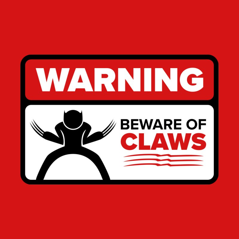 Beware of Claws Home Mounted Aluminum Print by Wood-Man's Artist Shop
