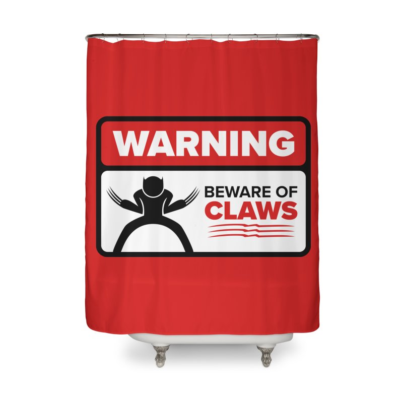 Beware of Claws Home Shower Curtain by Wood-Man's Artist Shop