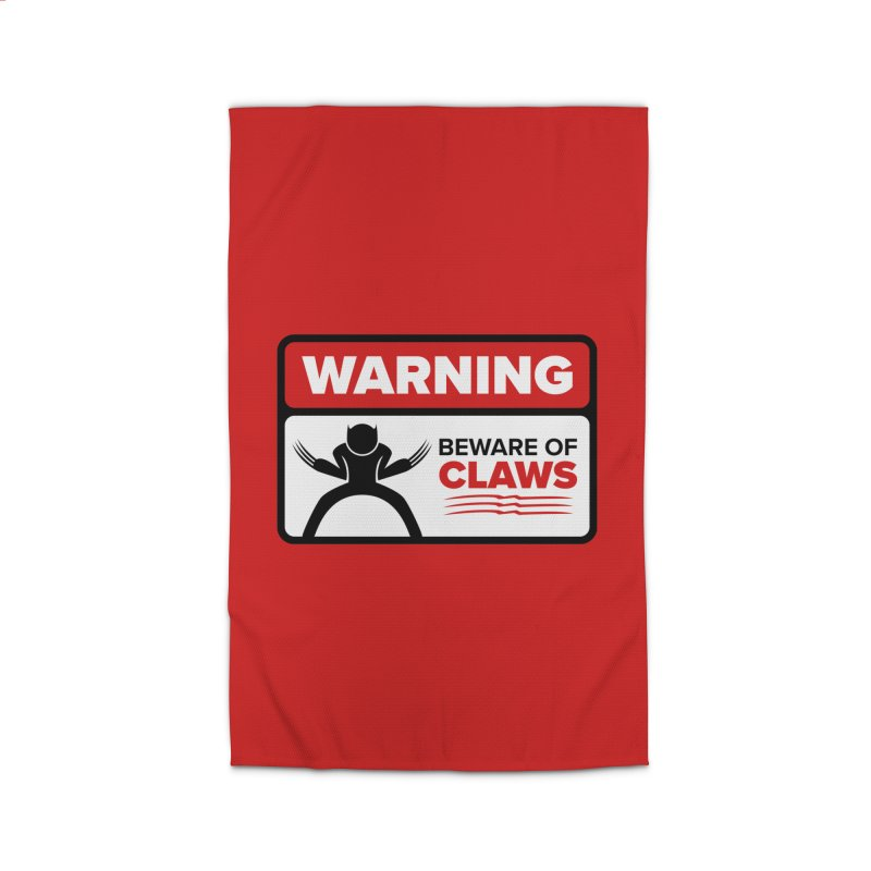 Beware of Claws Home Rug by Wood-Man's Artist Shop
