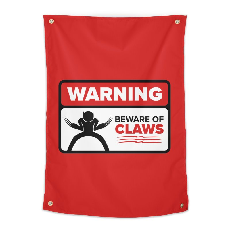 Beware of Claws Home Tapestry by Wood-Man's Artist Shop