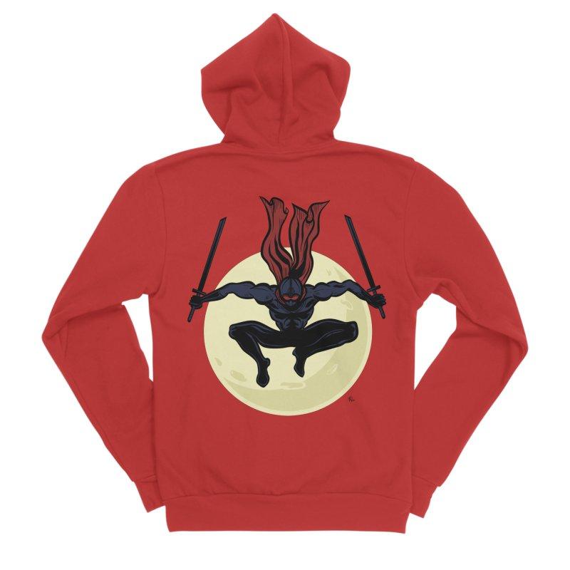 Moonlight Ninja Men's Zip-Up Hoody by Wood-Man's Artist Shop
