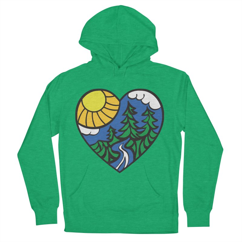 The Great Outdoors Men's Pullover Hoody by Wood-Man's Artist Shop