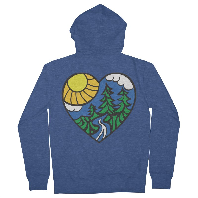The Great Outdoors Men's Zip-Up Hoody by Wood-Man's Artist Shop