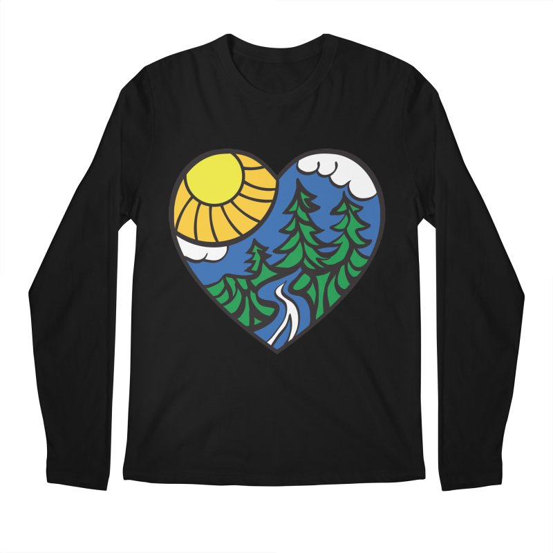 The Great Outdoors Men's Longsleeve T-Shirt by Wood-Man's Artist Shop