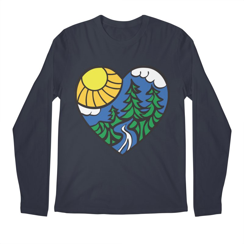 The Great Outdoors Men's Longsleeve T-Shirt by Wood-Man's Artist Shop