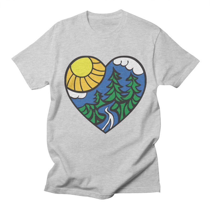 The Great Outdoors Men's T-shirt by Wood-Man's Artist Shop