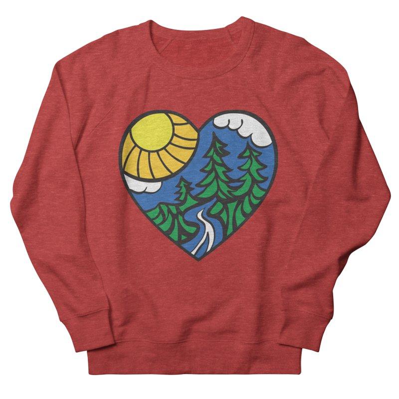 The Great Outdoors Men's Sweatshirt by Wood-Man's Artist Shop