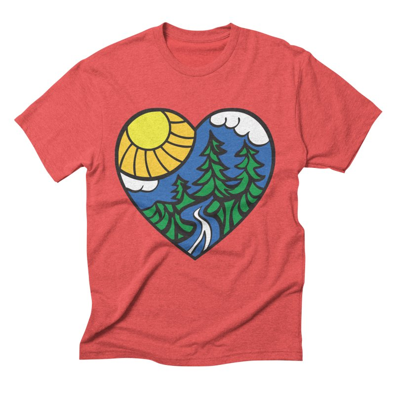 The Great Outdoors Men's Triblend T-Shirt by Wood-Man's Artist Shop