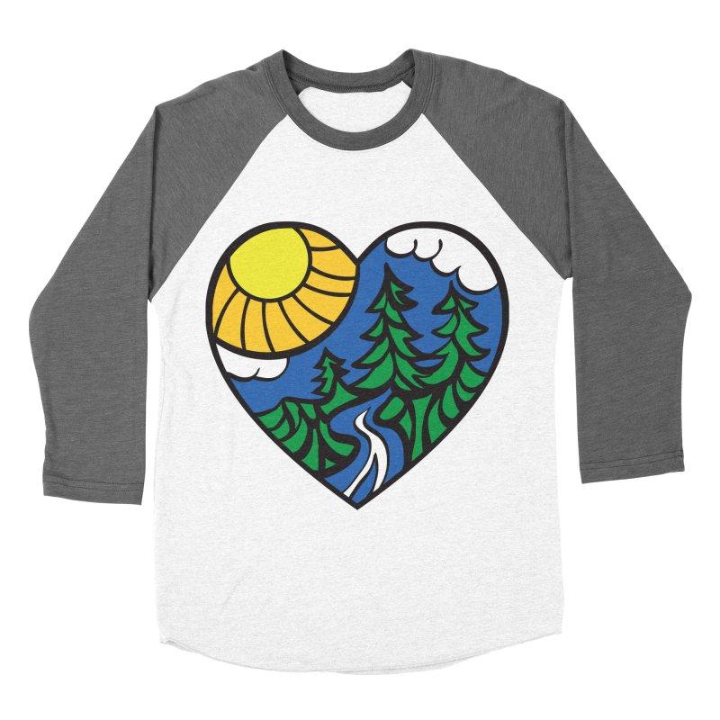 The Great Outdoors Men's Baseball Triblend T-Shirt by Wood-Man's Artist Shop