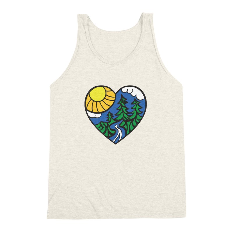 The Great Outdoors Men's Triblend Tank by Wood-Man's Artist Shop