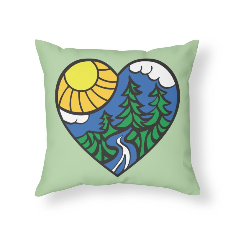 The Great Outdoors Home Throw Pillow by Wood-Man's Artist Shop