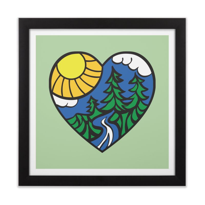 The Great Outdoors Home Framed Fine Art Print by Wood-Man's Artist Shop