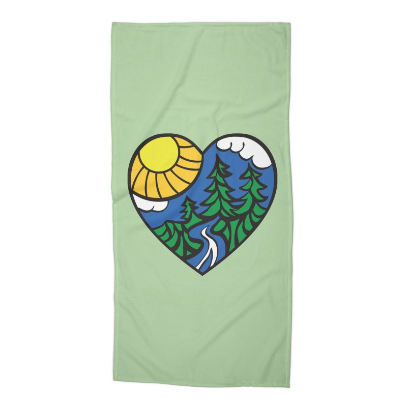 The Great Outdoors Accessories Beach Towel by Wood-Man's Artist Shop