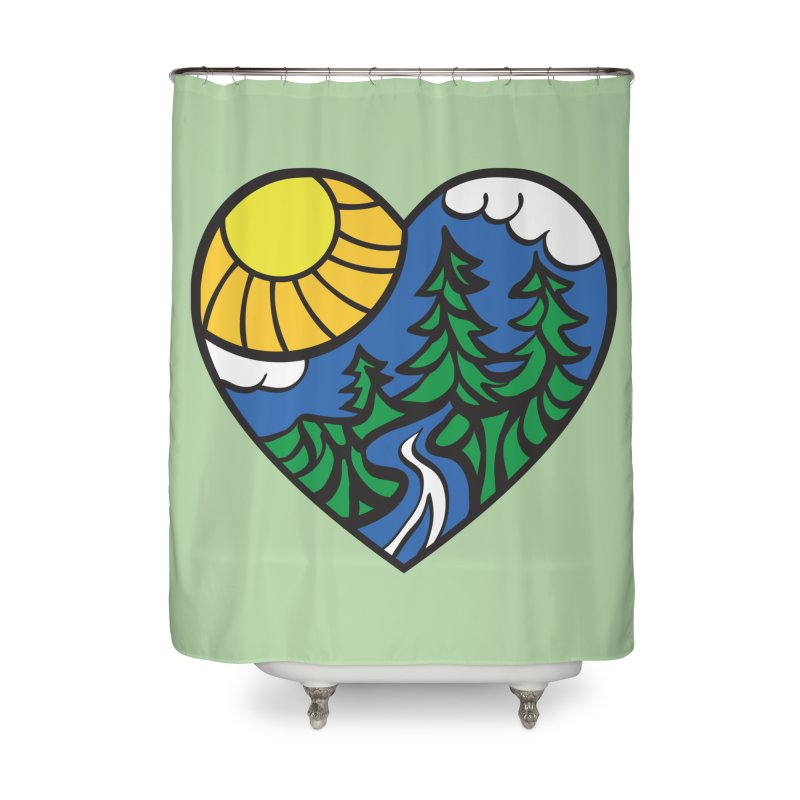 The Great Outdoors Home Shower Curtain by Wood-Man's Artist Shop