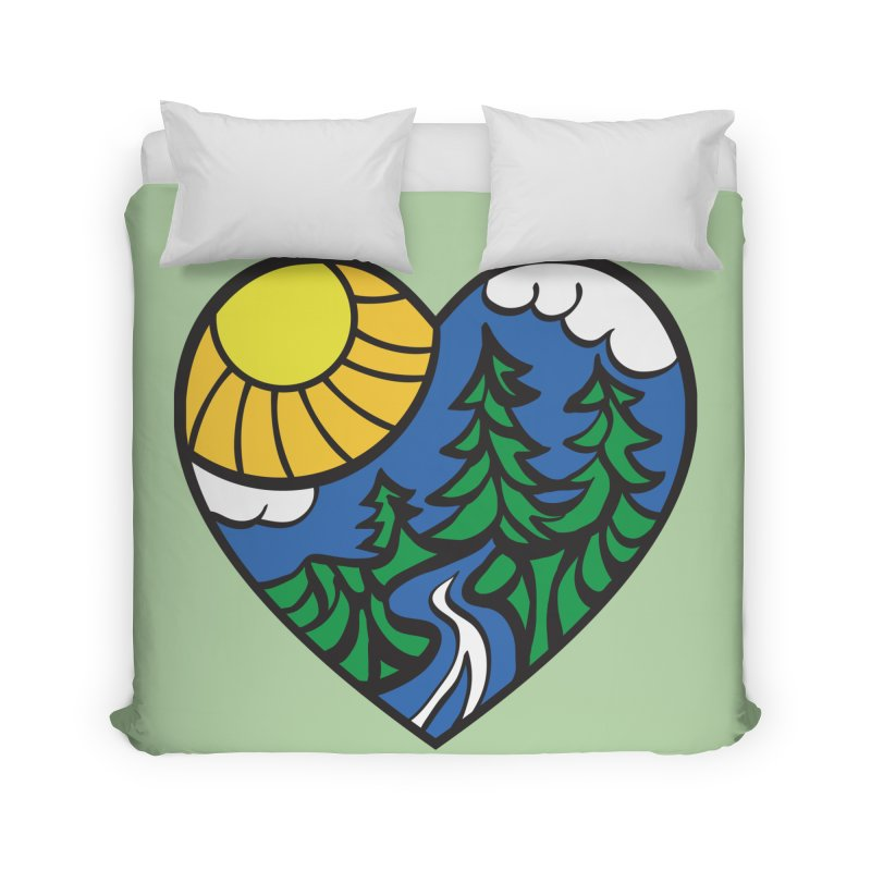 The Great Outdoors Home Duvet by Wood-Man's Artist Shop