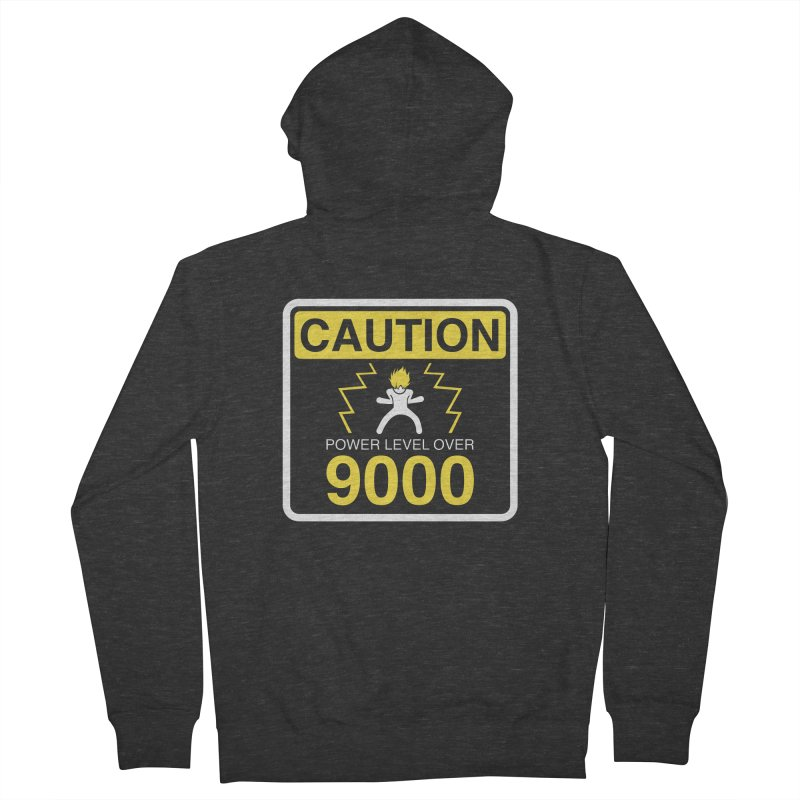 CAUTION: Power Level Over 9000 Men's Zip-Up Hoody by Wood-Man's Artist Shop