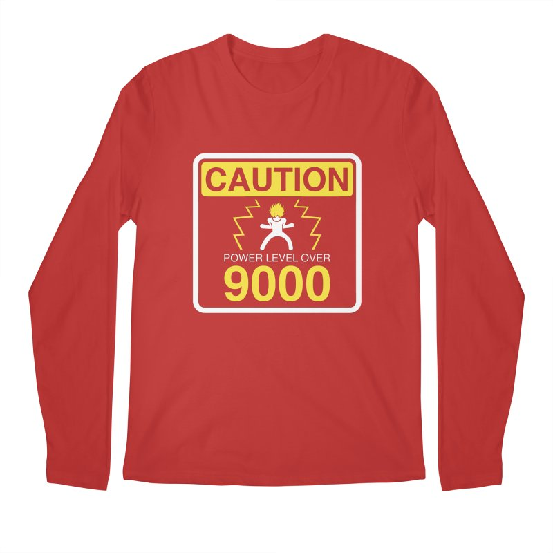 CAUTION: Power Level Over 9000 Men's Longsleeve T-Shirt by Wood-Man's Artist Shop