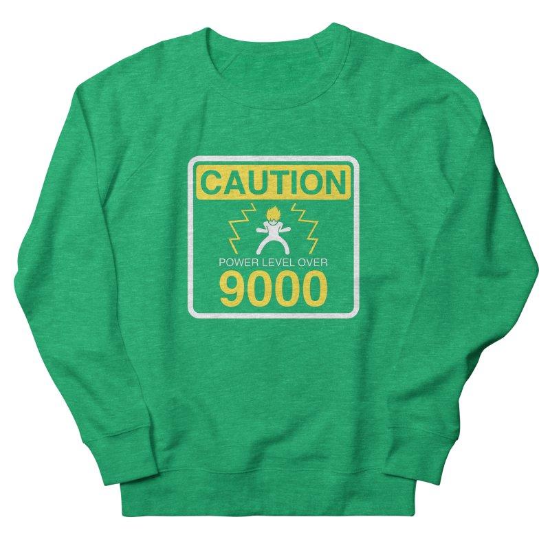CAUTION: Power Level Over 9000 Men's Sweatshirt by Wood-Man's Artist Shop