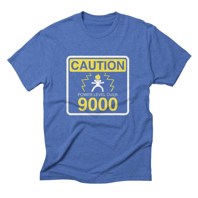 CAUTION: Power Level Over 9000 Men's Triblend T-Shirt by Wood-Man's Artist Shop