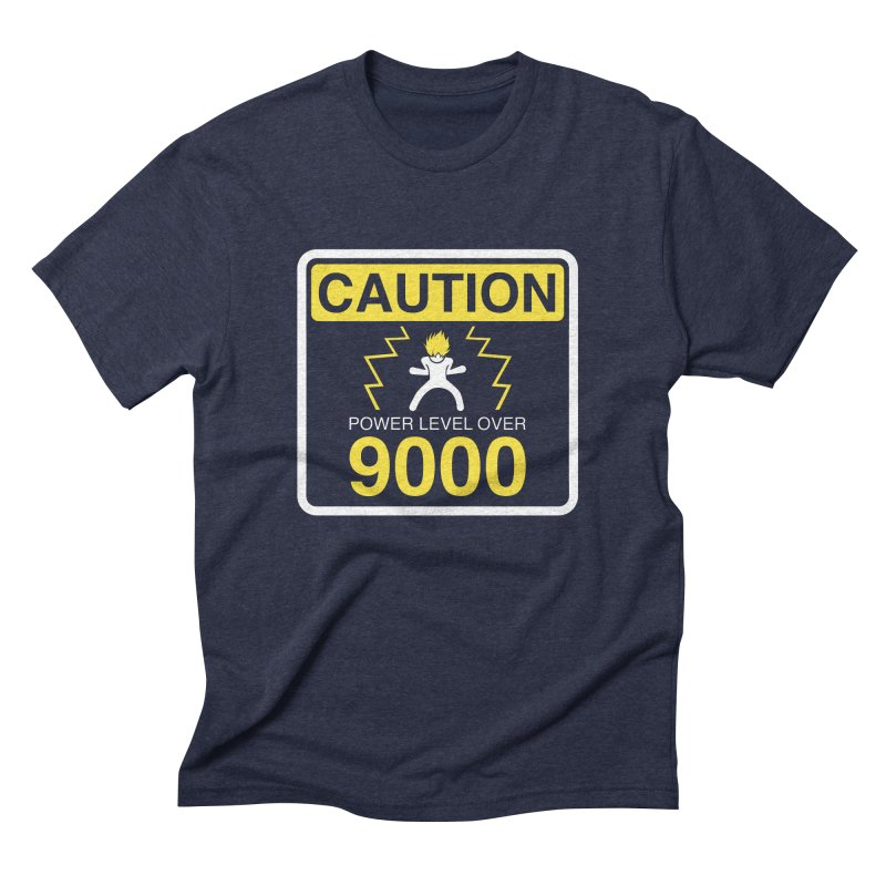 CAUTION: Power Level Over 9000 Men's Triblend T-Shirt by Wood-Man's Artist Shop