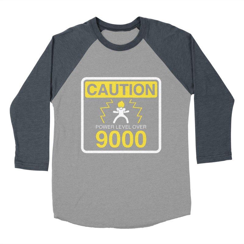 CAUTION: Power Level Over 9000 Women's Baseball Triblend T-Shirt by Wood-Man's Artist Shop