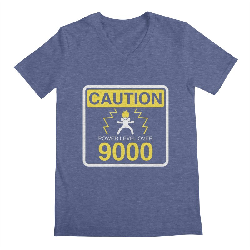 CAUTION: Power Level Over 9000 Men's V-Neck by Wood-Man's Artist Shop