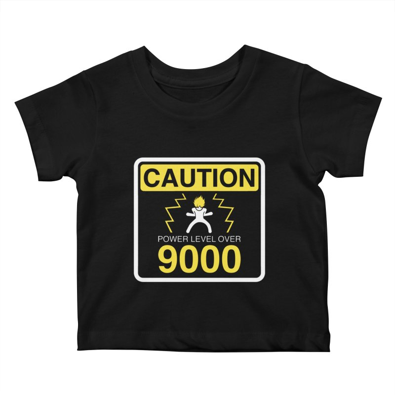 CAUTION: Power Level Over 9000 Kids Baby T-Shirt by Wood-Man's Artist Shop