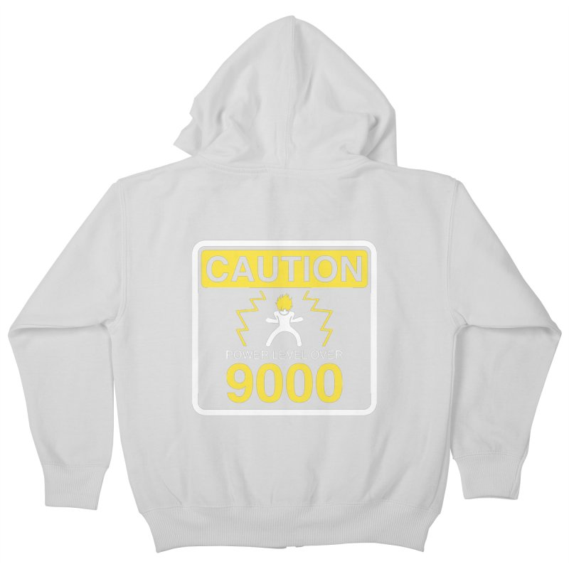 CAUTION: Power Level Over 9000 Kids Zip-Up Hoody by Wood-Man's Artist Shop