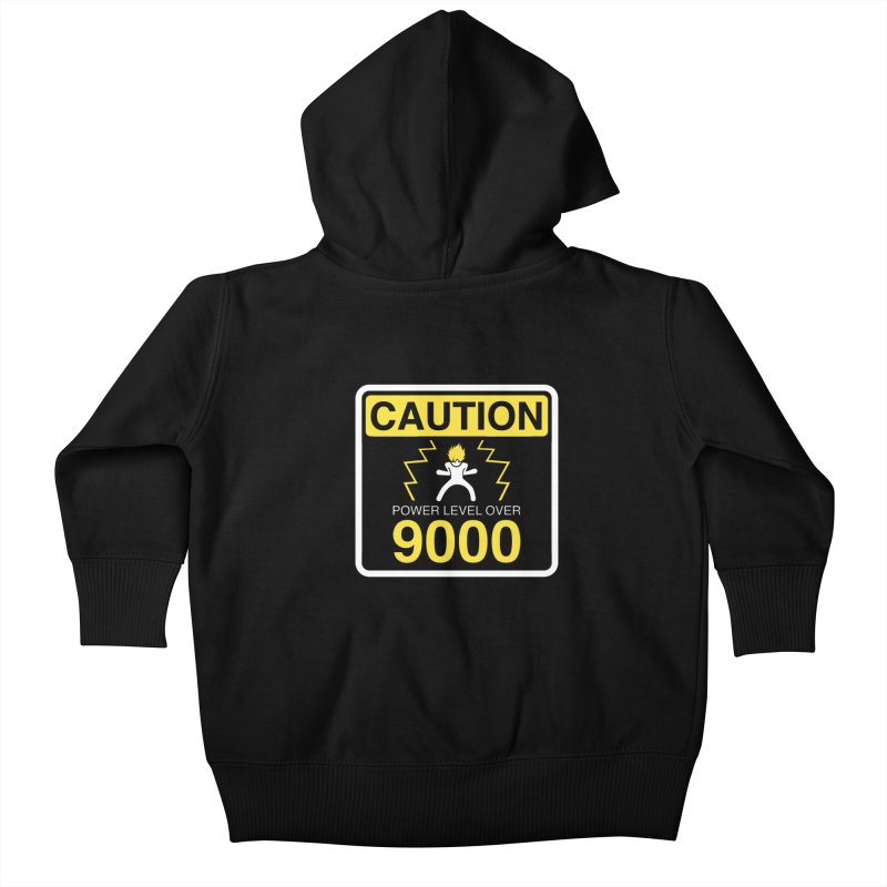 CAUTION: Power Level Over 9000 Kids Baby Zip-Up Hoody by Wood-Man's Artist Shop