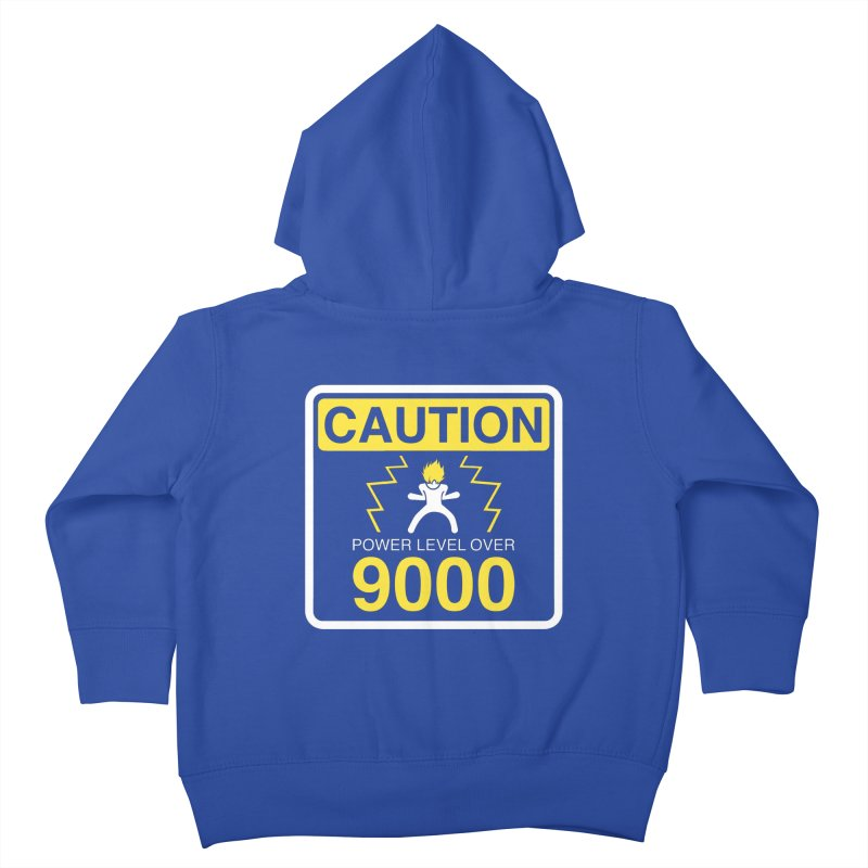 CAUTION: Power Level Over 9000 Kids Toddler Zip-Up Hoody by Wood-Man's Artist Shop