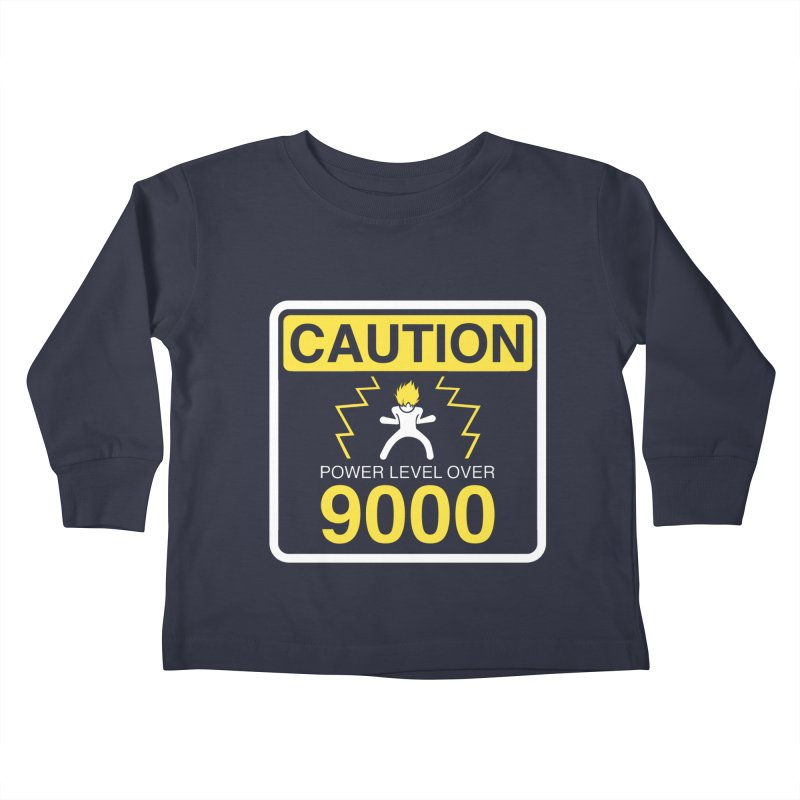 CAUTION: Power Level Over 9000 Kids Toddler Longsleeve T-Shirt by Wood-Man's Artist Shop