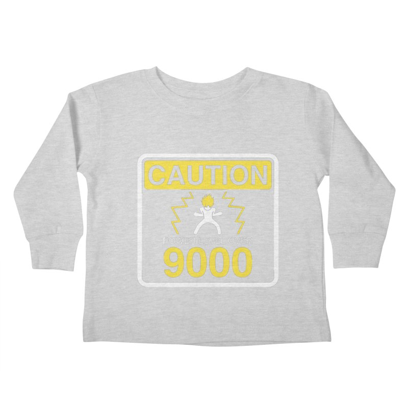 CAUTION: Power Level Over 9000 Kids Toddler Longsleeve T-Shirt by Wood-Man's Artist Shop